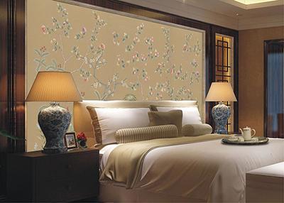 织绘床头壁画