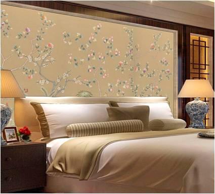 手绘床头壁画